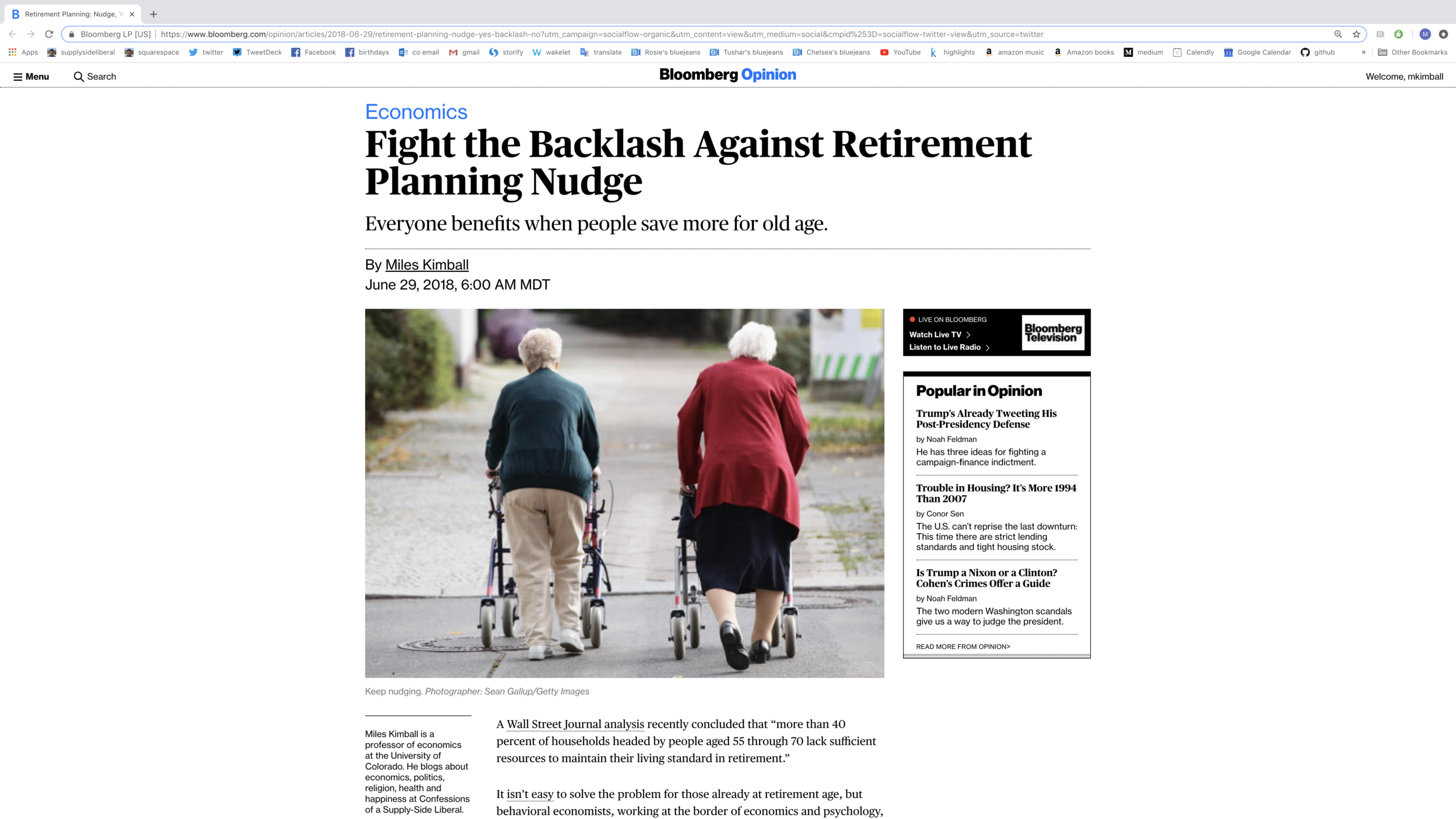 Link to the article shown above. Originally published in Bloomberg Opinion June 29, 2018. Reprinted with permission.