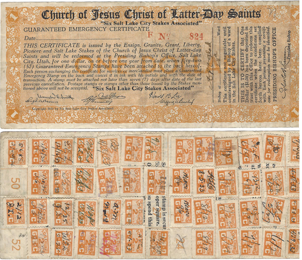 """Link to Neil Schafer's Numismatic News post """" Mormon church issued money substitute scrip"""""""