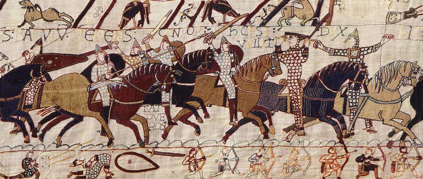"Image source   .    Link to the Wikipedia article for ""Battle of Hastings."""