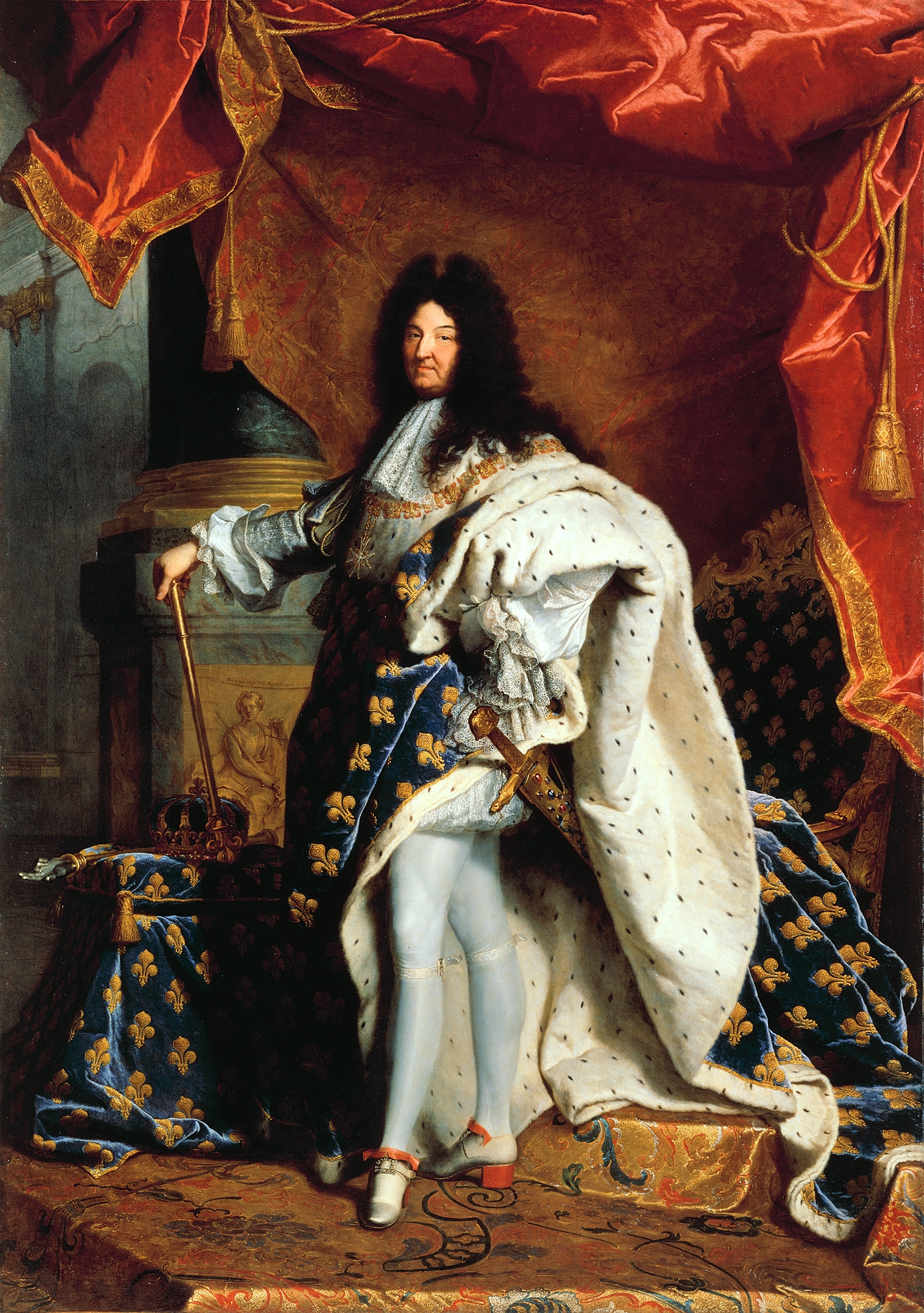 "Link to the Wikipedia article on ""Louis XIV of France.""    Among other actions during his reign, Louis XIV presided over ethnic cleansing of the    Huguenots    (the Protestants in his realm) and centralized power in his own hands."
