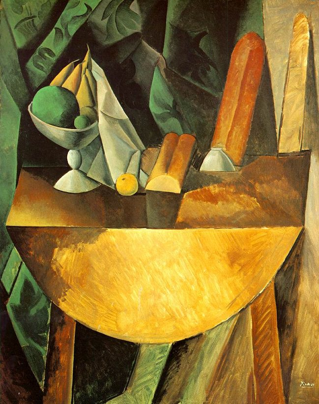 Bread and Fruit Dish on a Table, 1909 by Pablo Picasso   .  Two of the more controversial pieces of advice in the links below are to cut bread out of your diet and to eat fruit sparingly.
