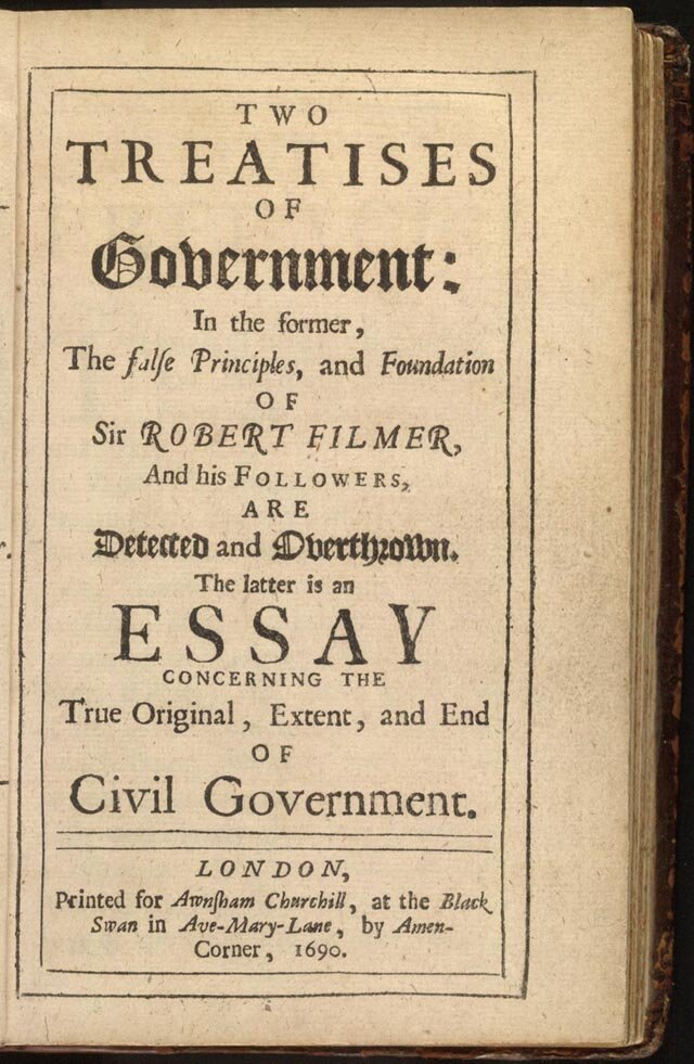 "Link to the Wikipedia article ""Two Treatises of Government"""