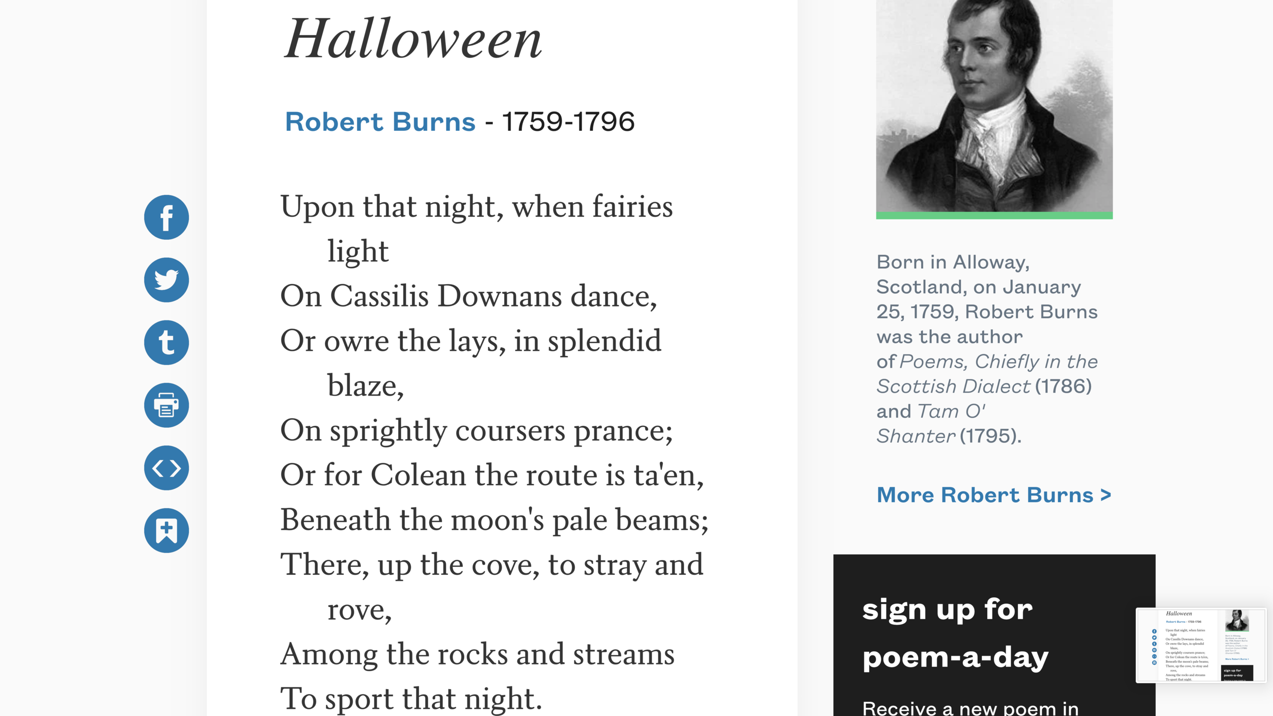 """Link to the poem shown above  , (which includes quite a bit in a Scottish dialect).     Link to the Wikipedia article """"Halloween."""""""