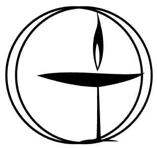 The Flaming Chalice   , symbol of    Unitarian Universalism