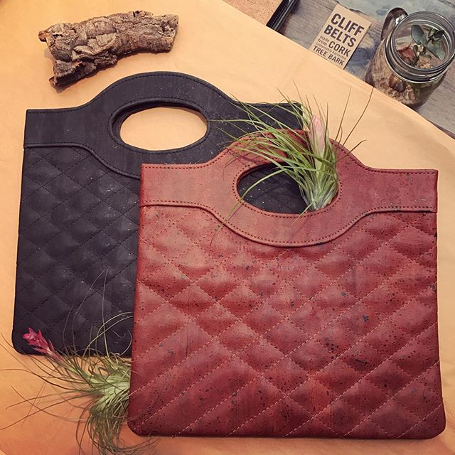 Quilted cork clutches! Ouuulala! #vegangirl #veganfashion #madeinamerica #madeinnyc #madeinny #veganstyle #veganlife www.cliffbelts.com
