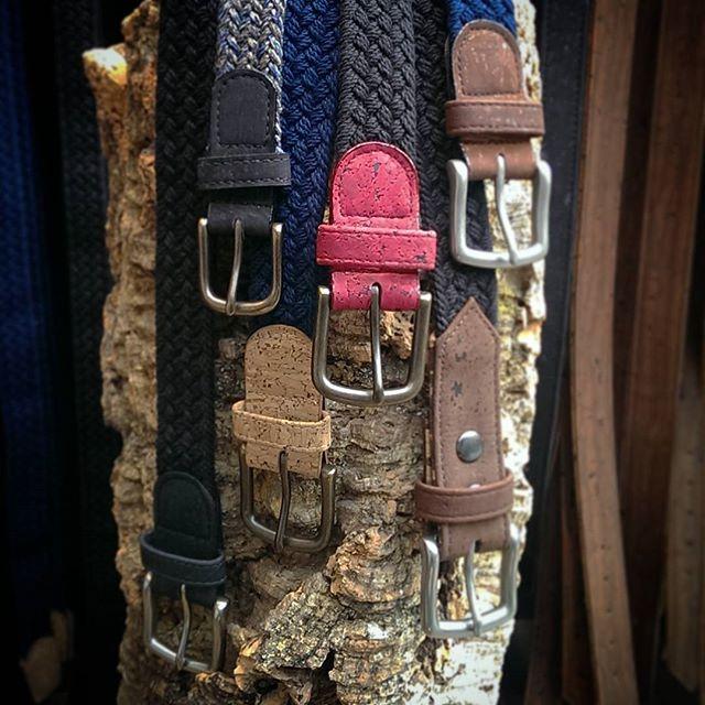 Belts on belts on belts!!! 🌱  Www.cliffbelts.com  #braidedbelt #veganlife #veganfashion #vegan #bryantparkwintervillage #bryantpark #corkbag #corkbelt #corkfashion #sustainablyharvested