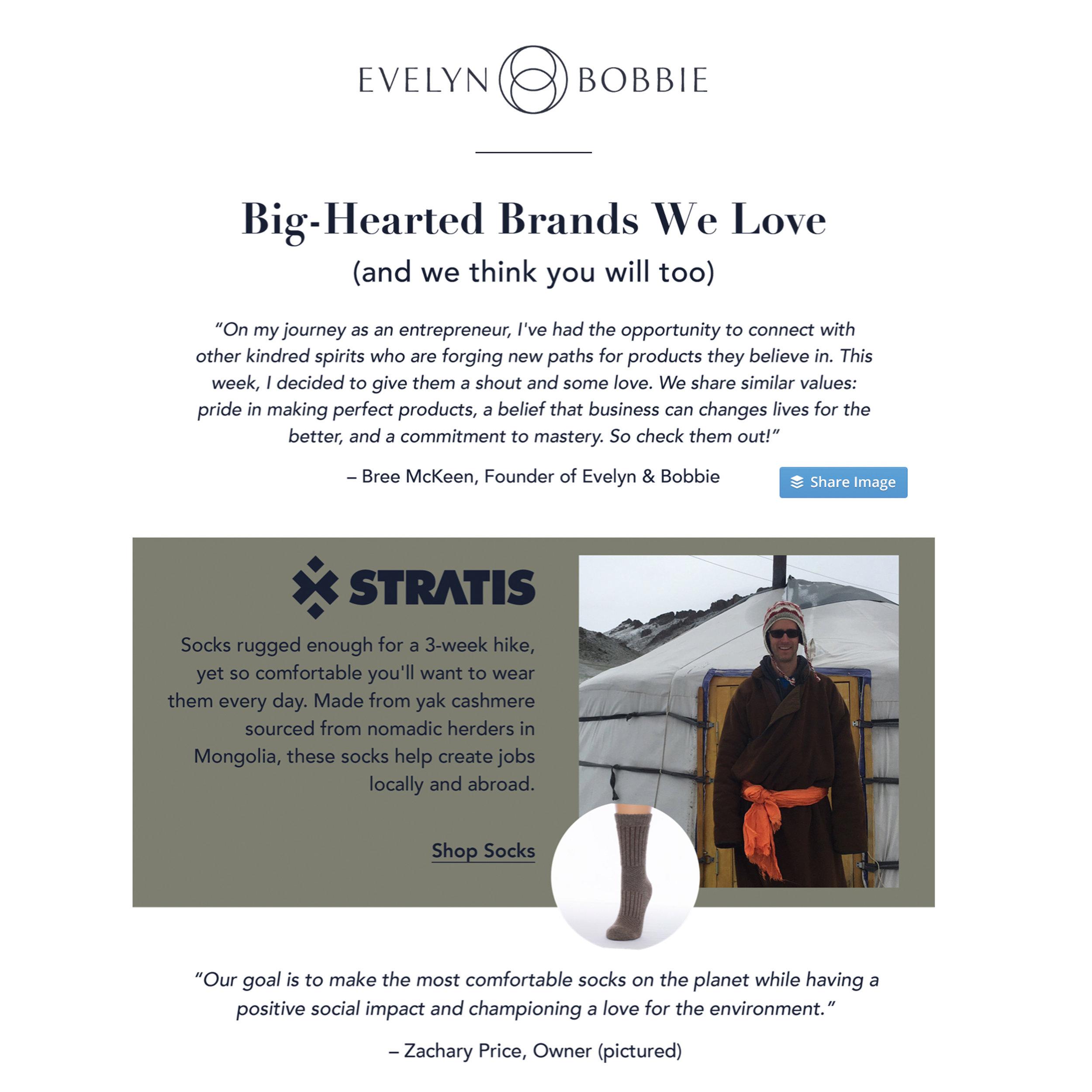 "Courtesy of Evelyn & Bobbie ""Brands We Love"""