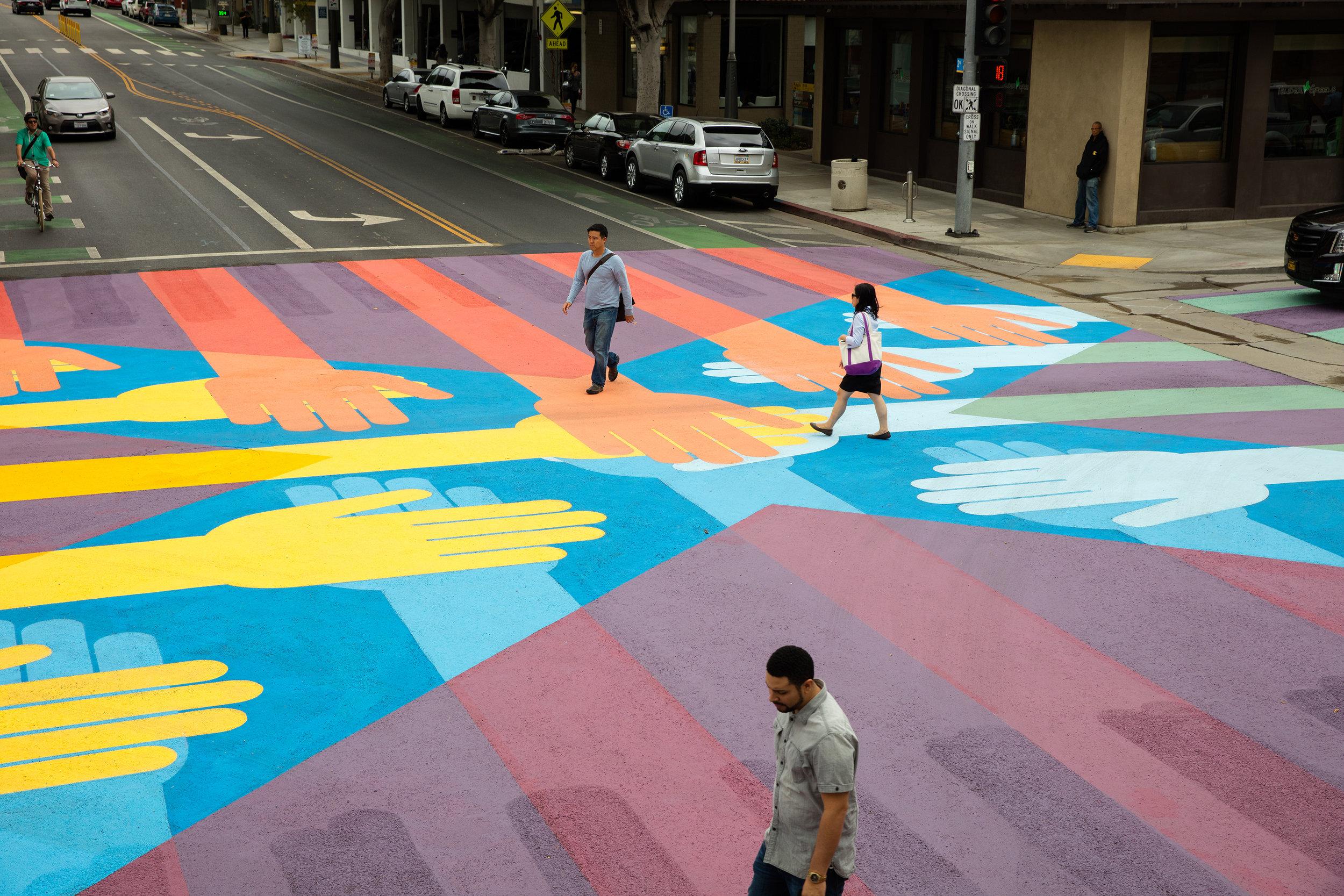 Crosswalk Art (Santa Monica, CA)
