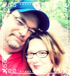 My husband Adam and I