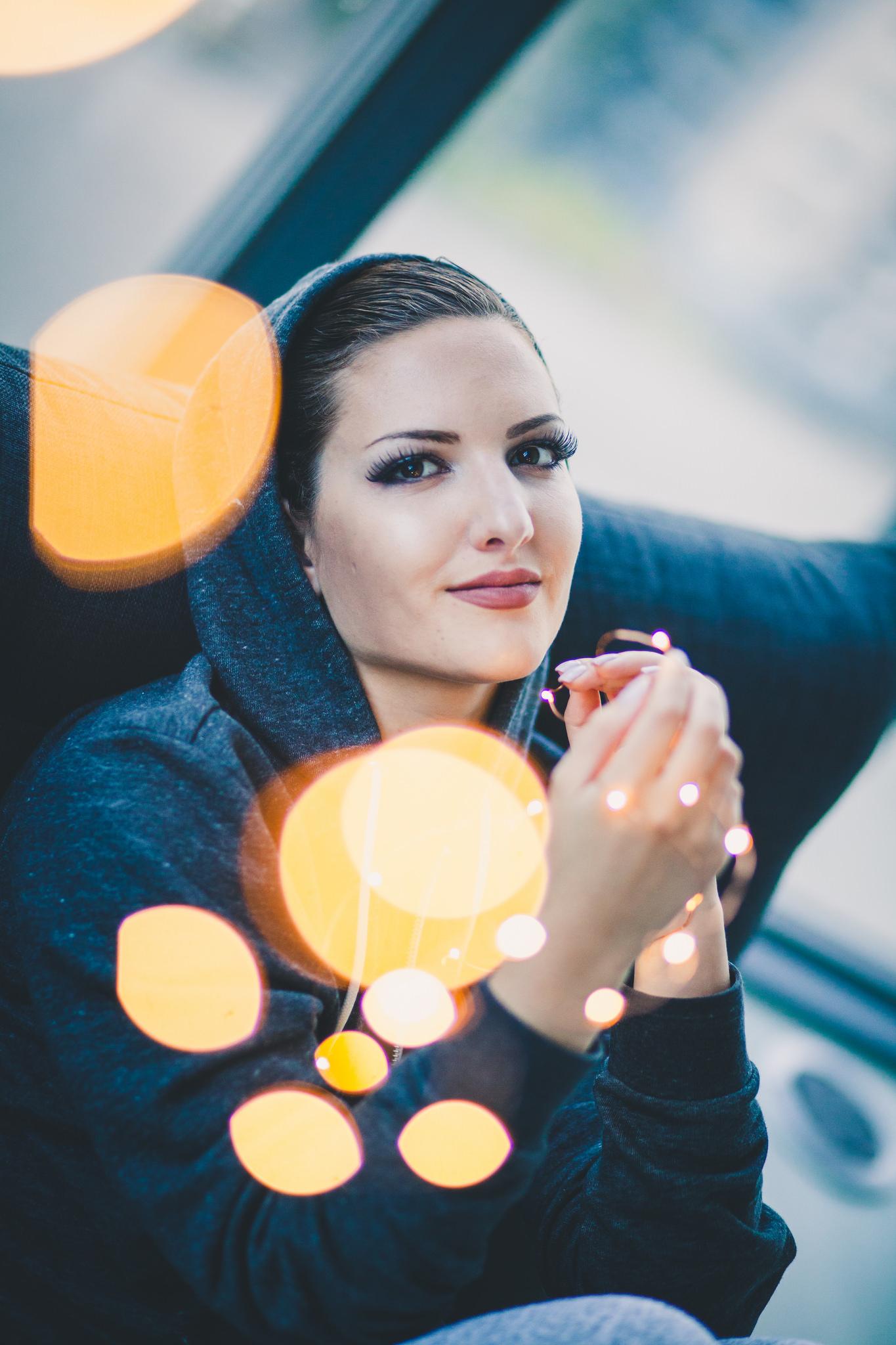 Fairy Lights Portrait Photography