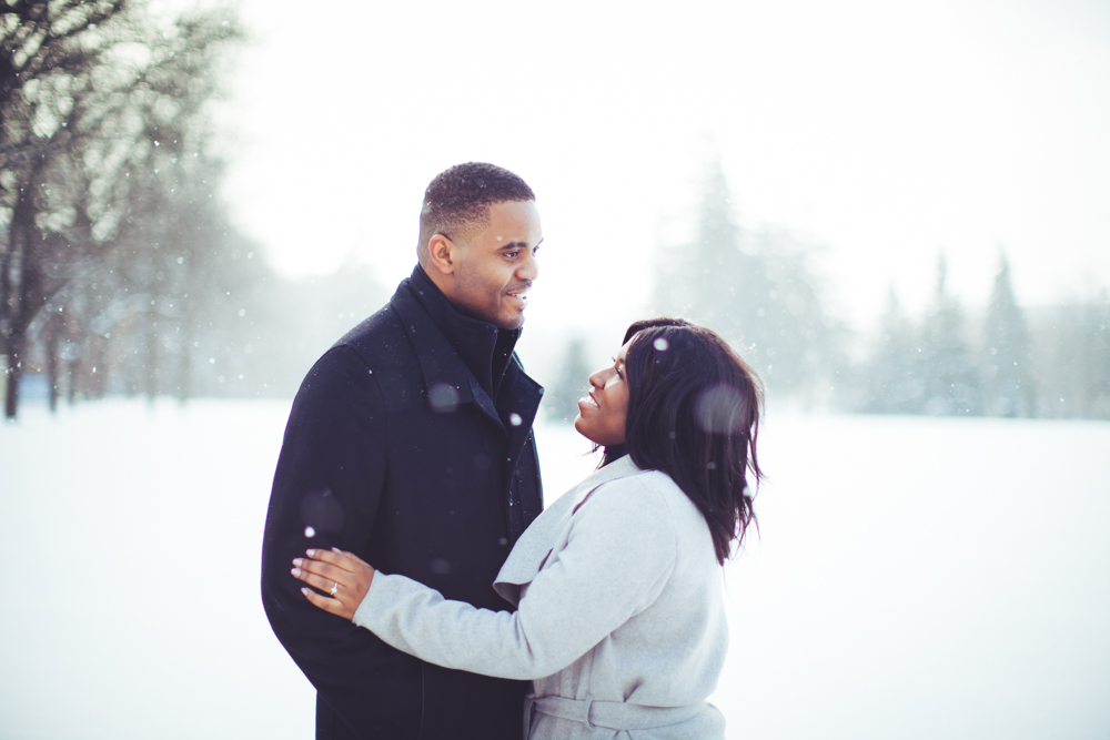 university of guelph winter engagement photoshoot
