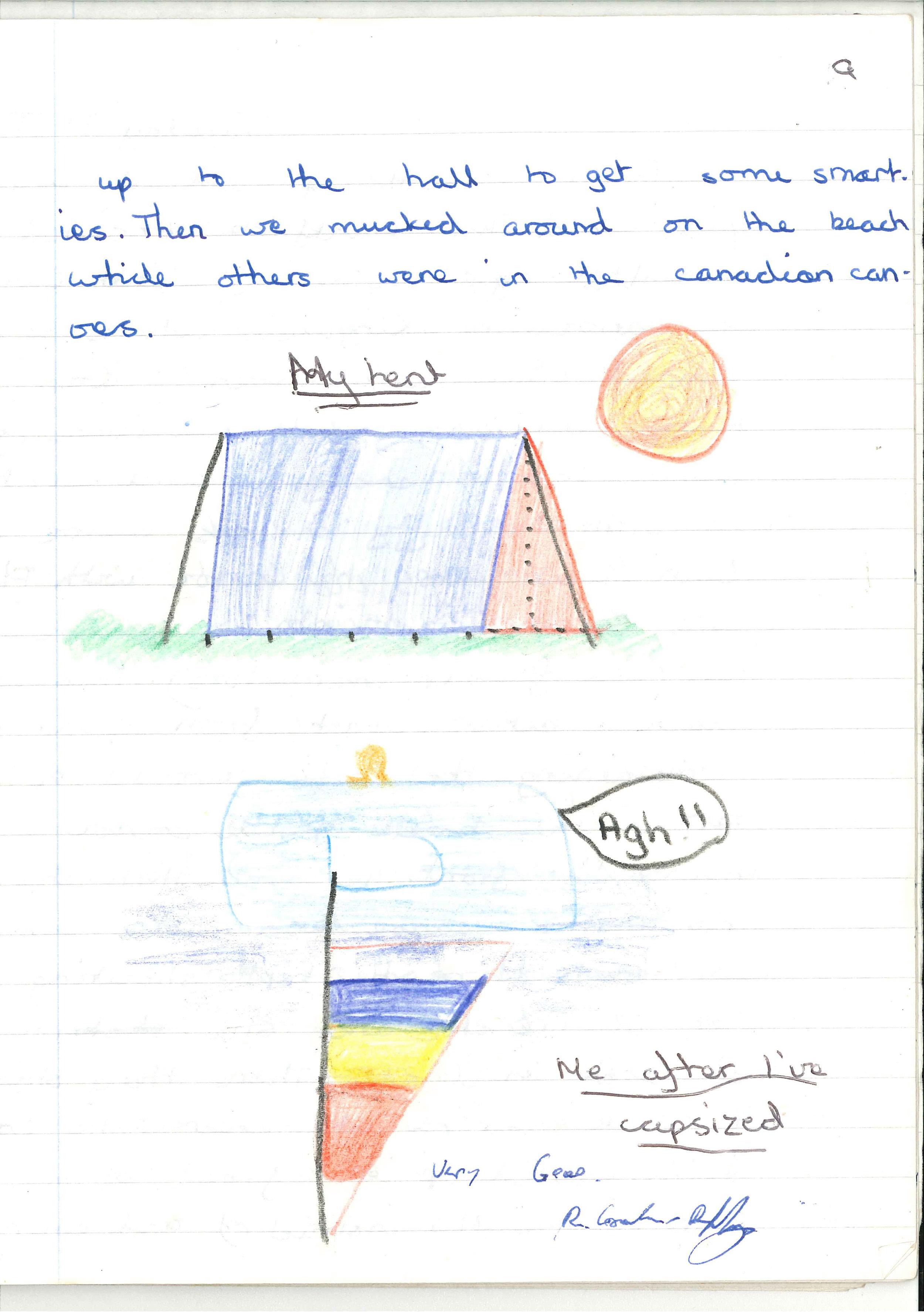 Miranda's school work