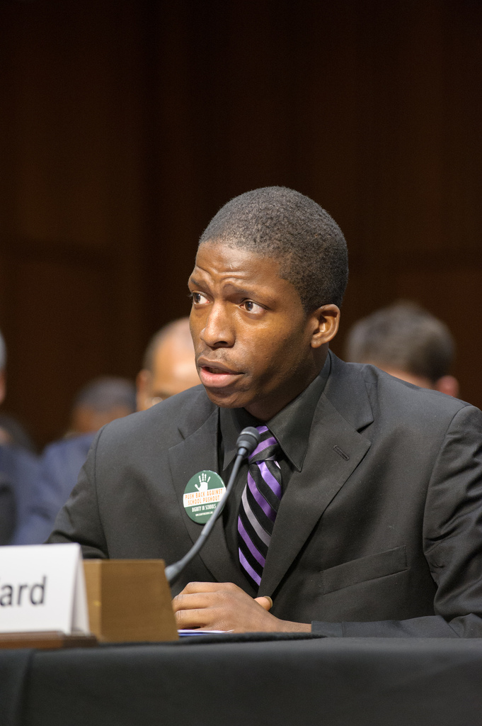 Edward testifies before congress on the school-to-prison pipeline.
