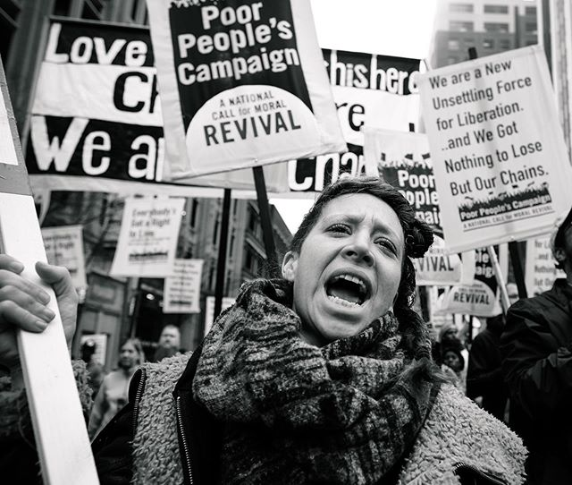 Join The Poor People's Campaign: A National Call for a Moral Revival in fighting for everyone's right to healthcare and a living wage.  Visit poorpeoplescampaign.org, or learn more at americawillbe.org