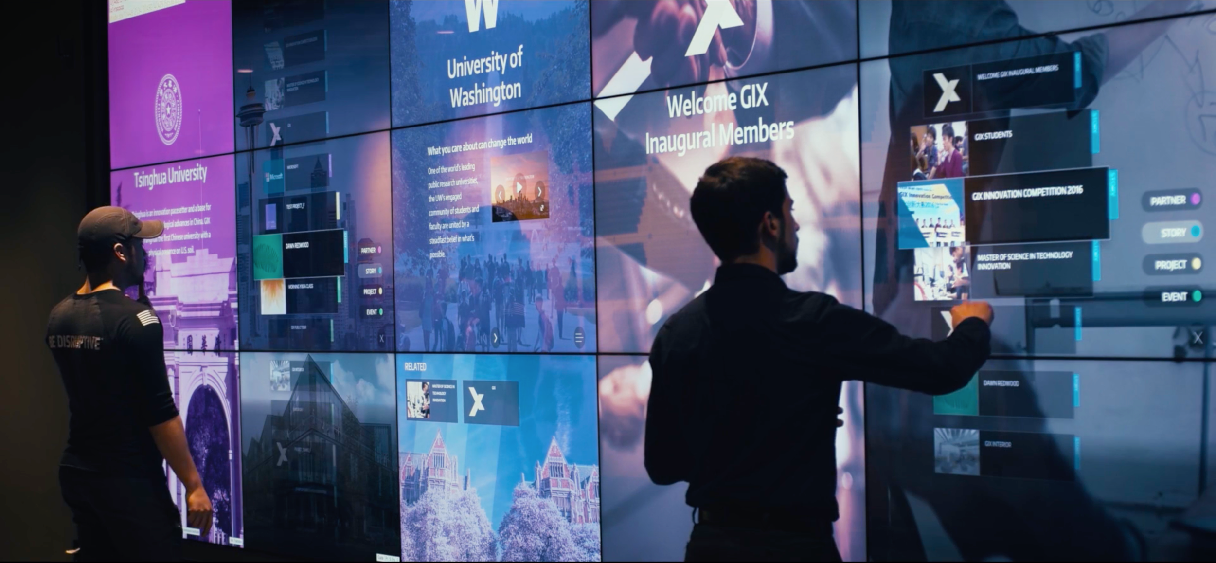 GIX interactive Network Wall
