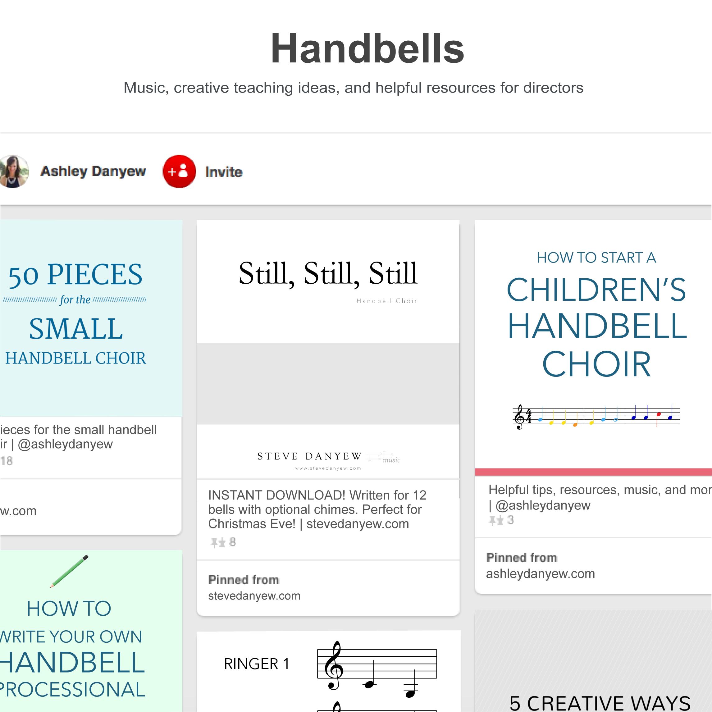 My favorite Pinterest boards for handbells   @ashleydanyew