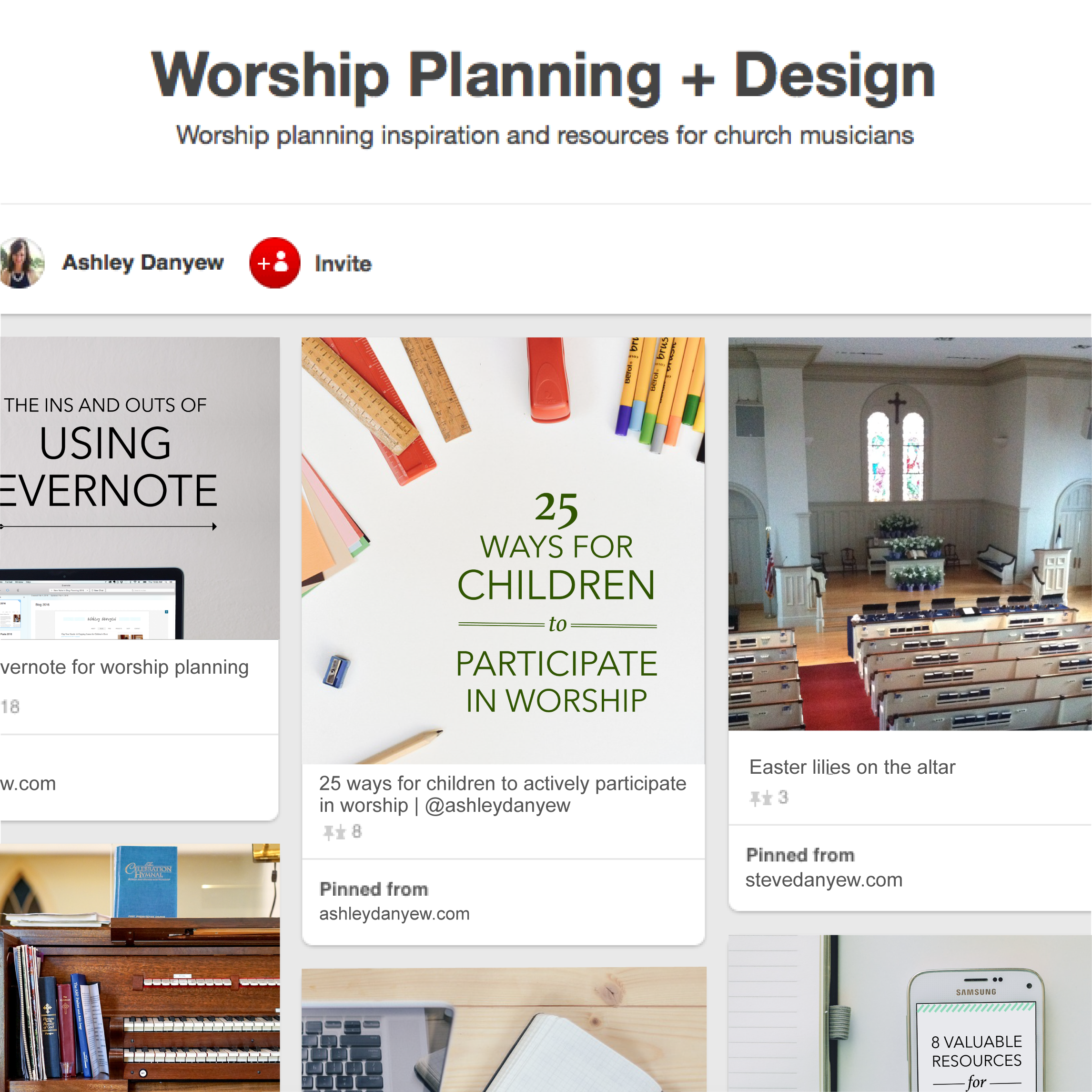My favorite Pinterest boards for worship planning and design | @ashleydanyew