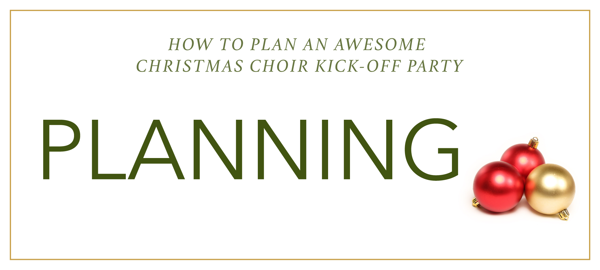 How to Plan an Awesome Christmas Choir Kick-Off Party - lots of ideas for planning, activities, and Christmas-themed games | @ashleydanyew