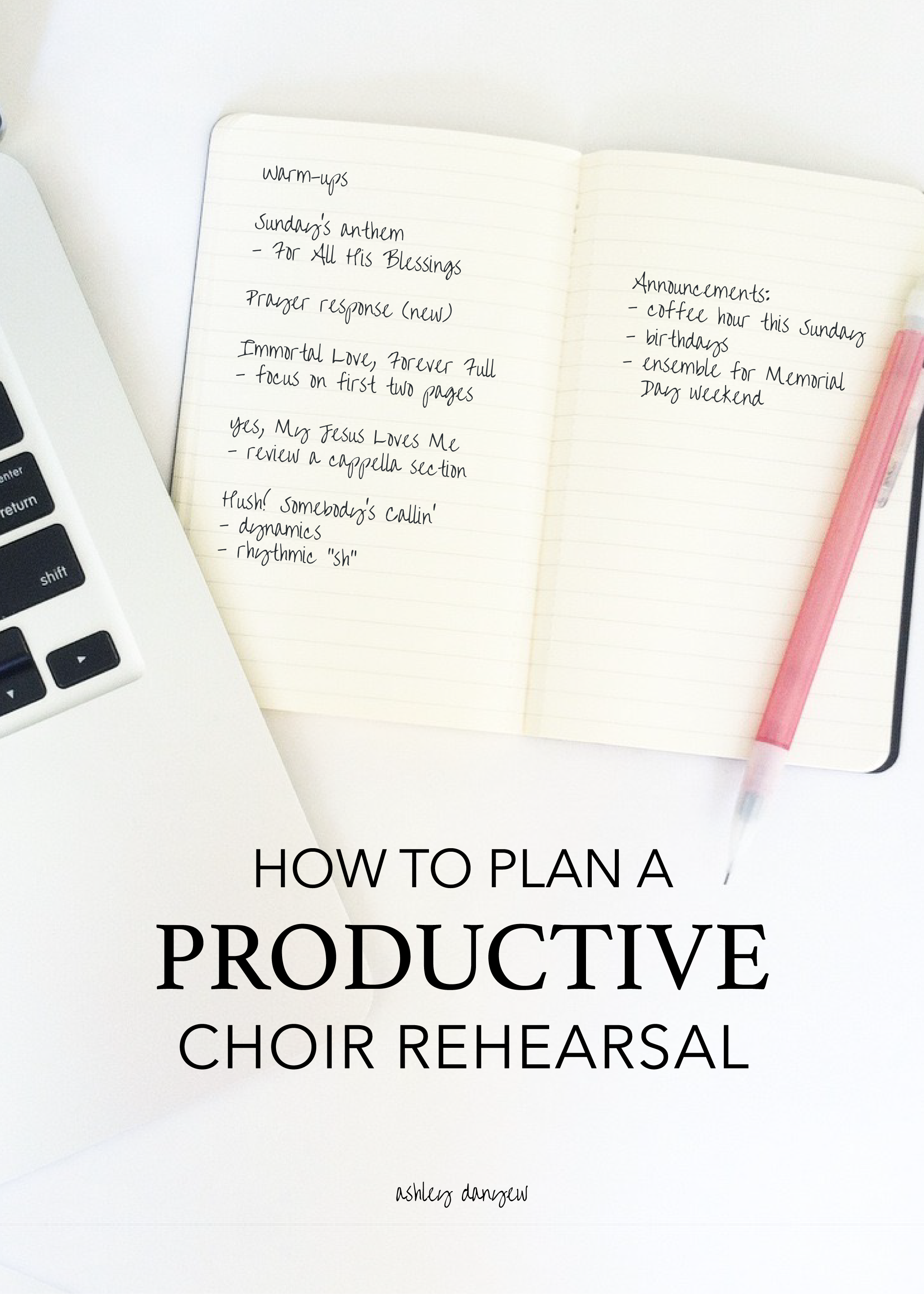 Copy of How to Plan a Productive Choir Rehearsal