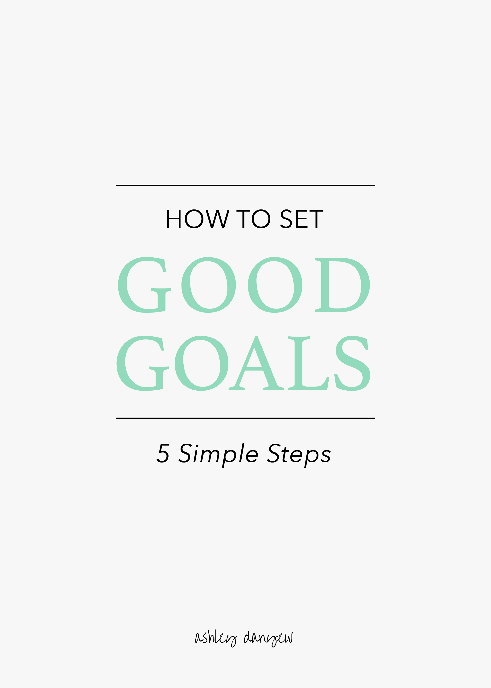 Copy of How to Set Good Goals: 5 Simple Steps