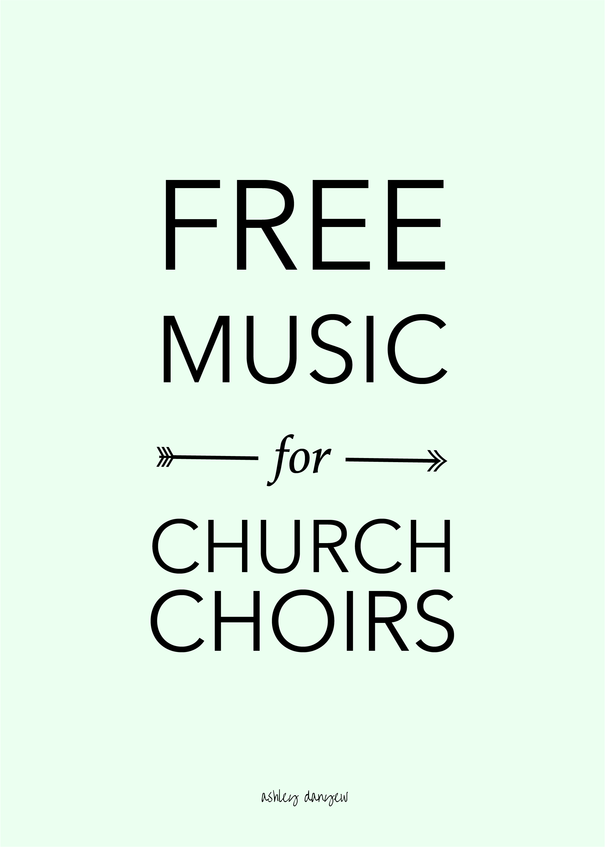 Copy of Free Music for Church Choirs