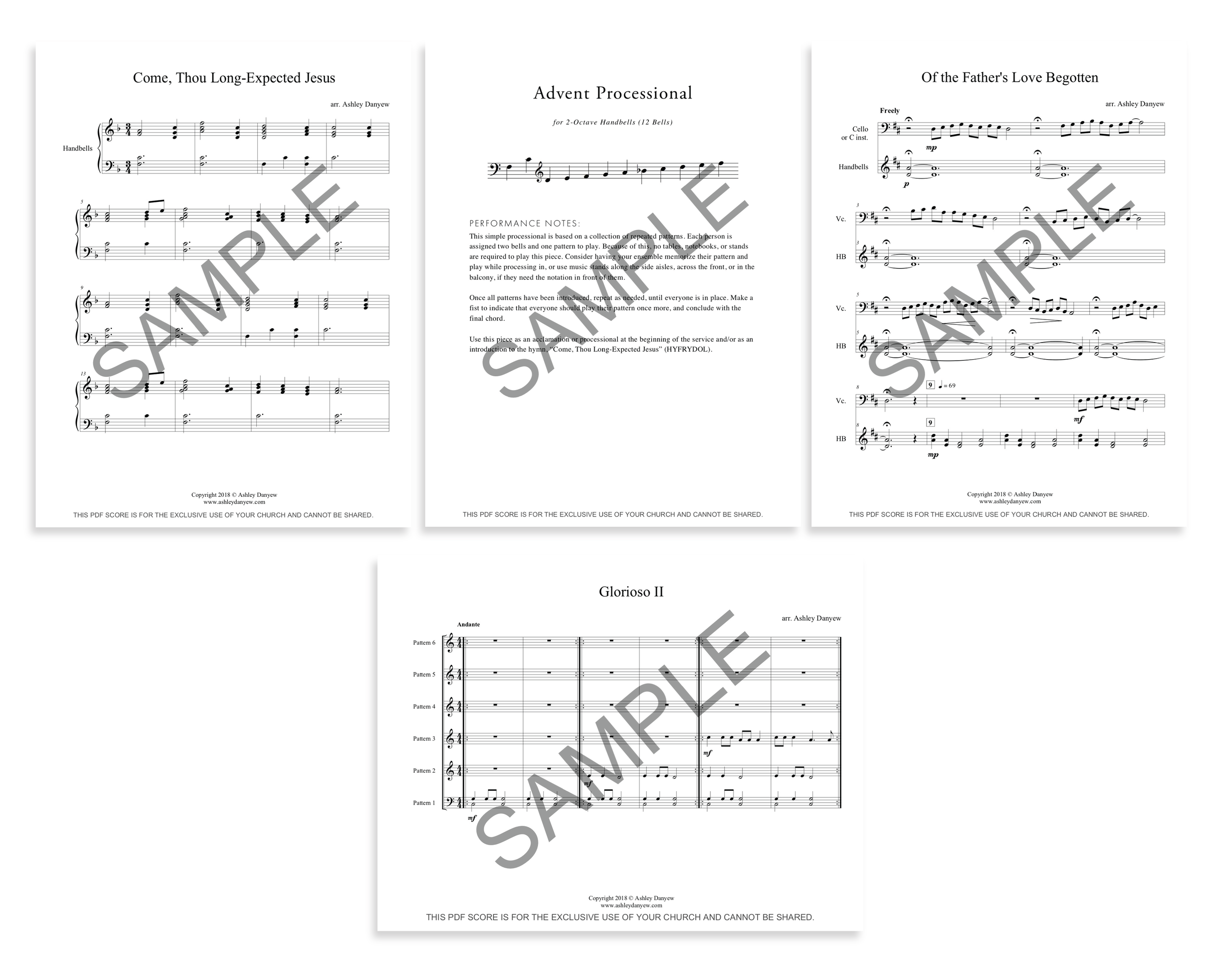 Four Pieces for Advent - a digital collection for 2-octave handbells (12 bells).png