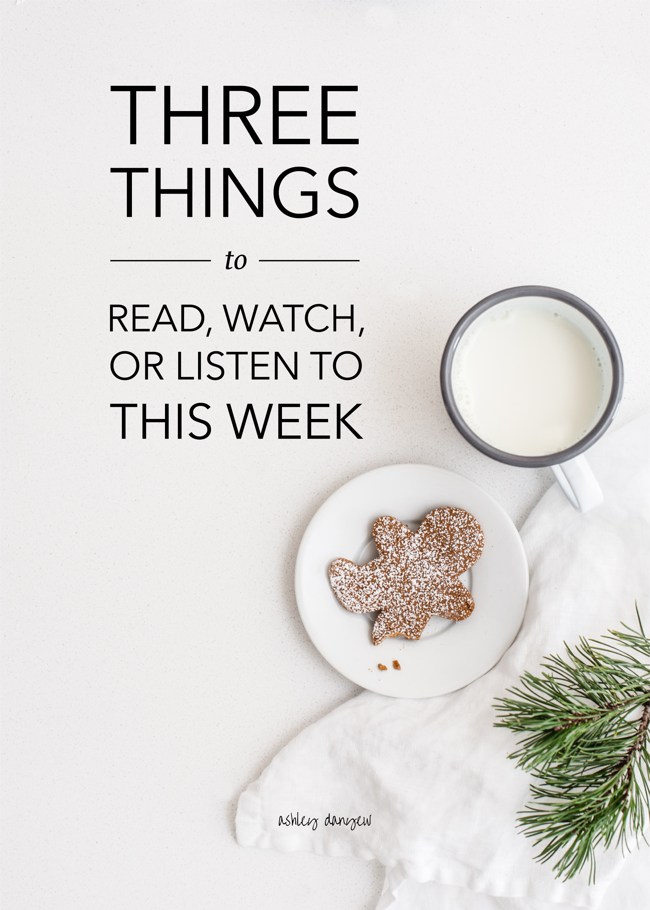Three Things to Read, Watch, or Listen to This Week