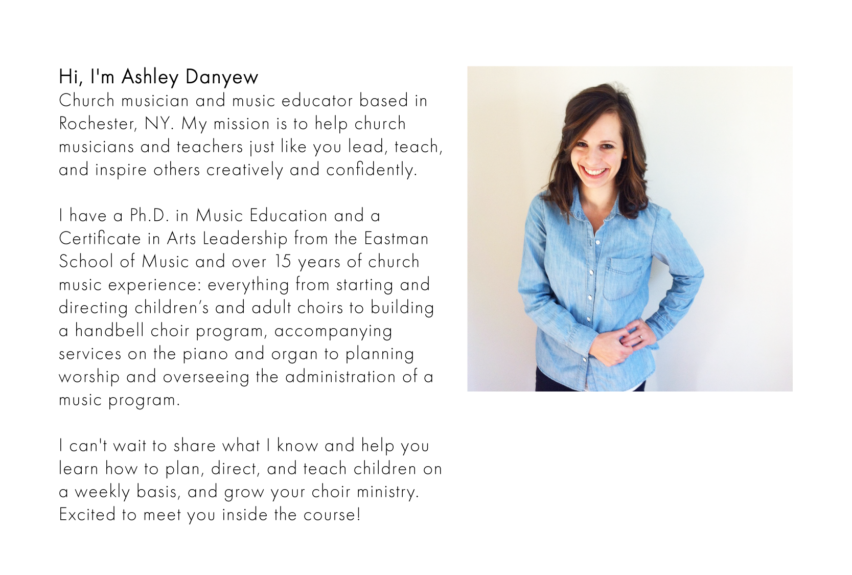 Ashley Danyew - church musician, music educator, writer, and creative entrepreneur