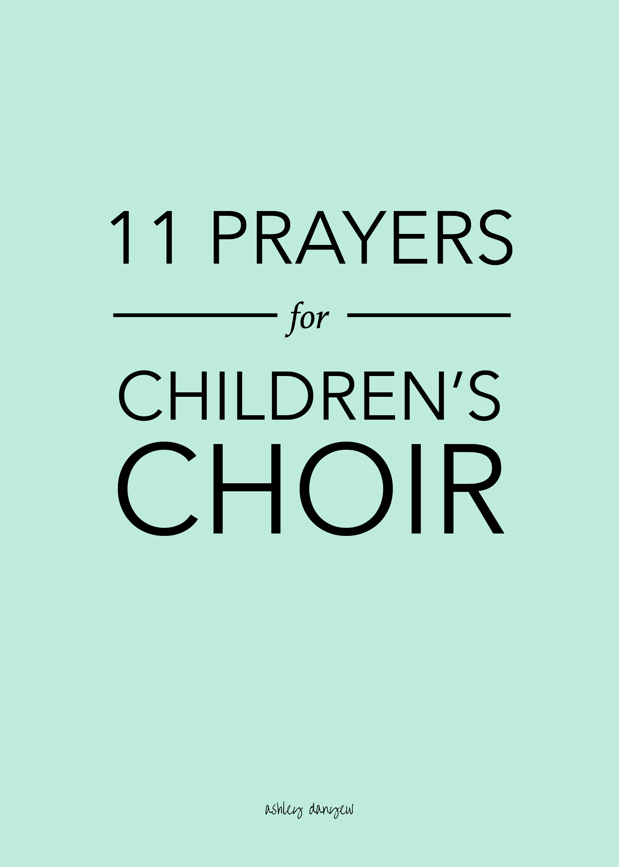 11 Prayers for Children's Choir