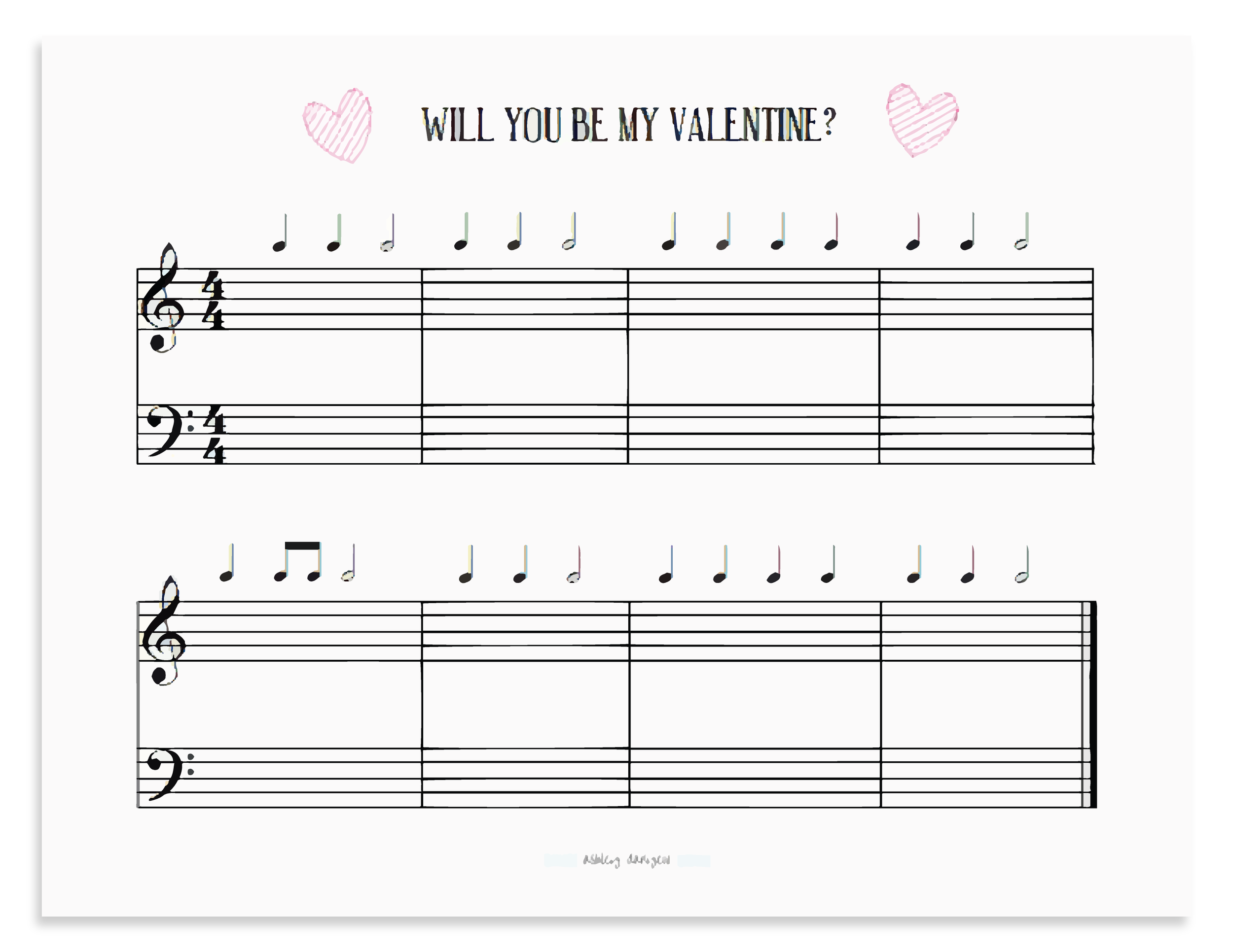 Valentine Composition Project Worksheet by Ashley Danyew