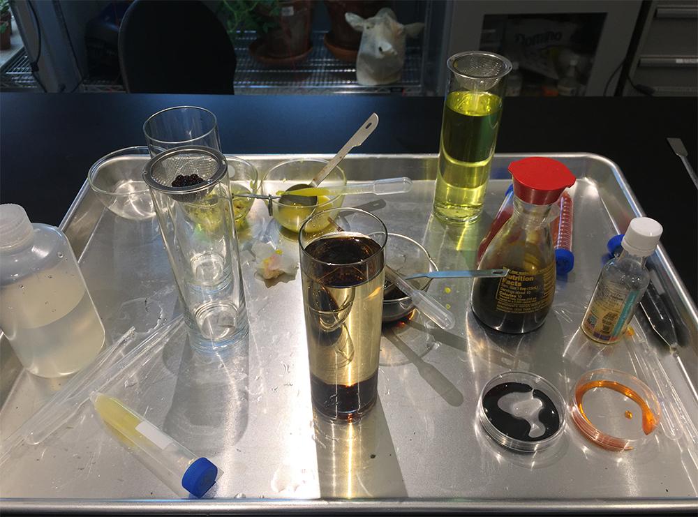 Spherification process of making molecular flavor Caviar