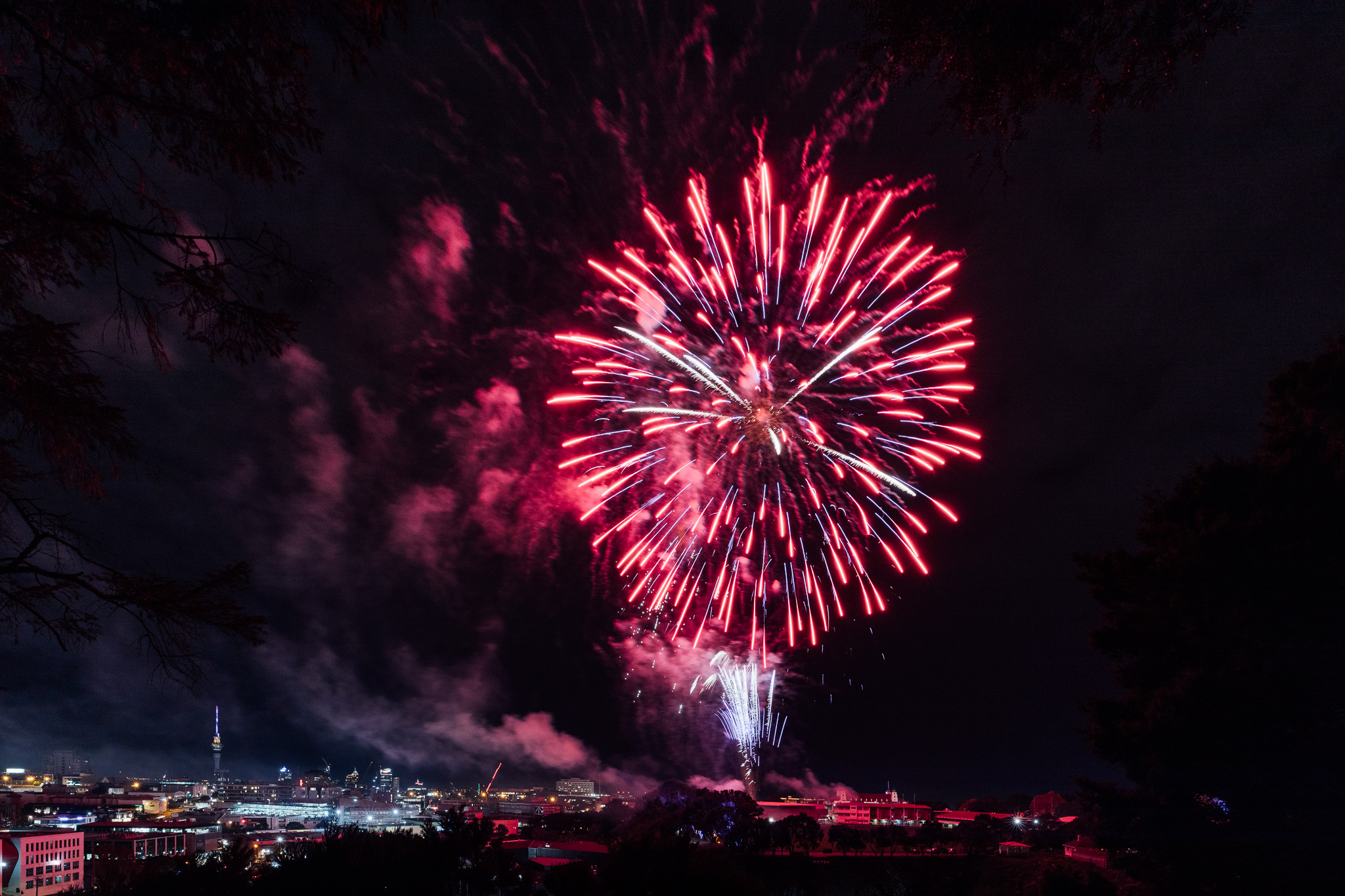 Auckland Grammar School 150th - Celebration fireworks