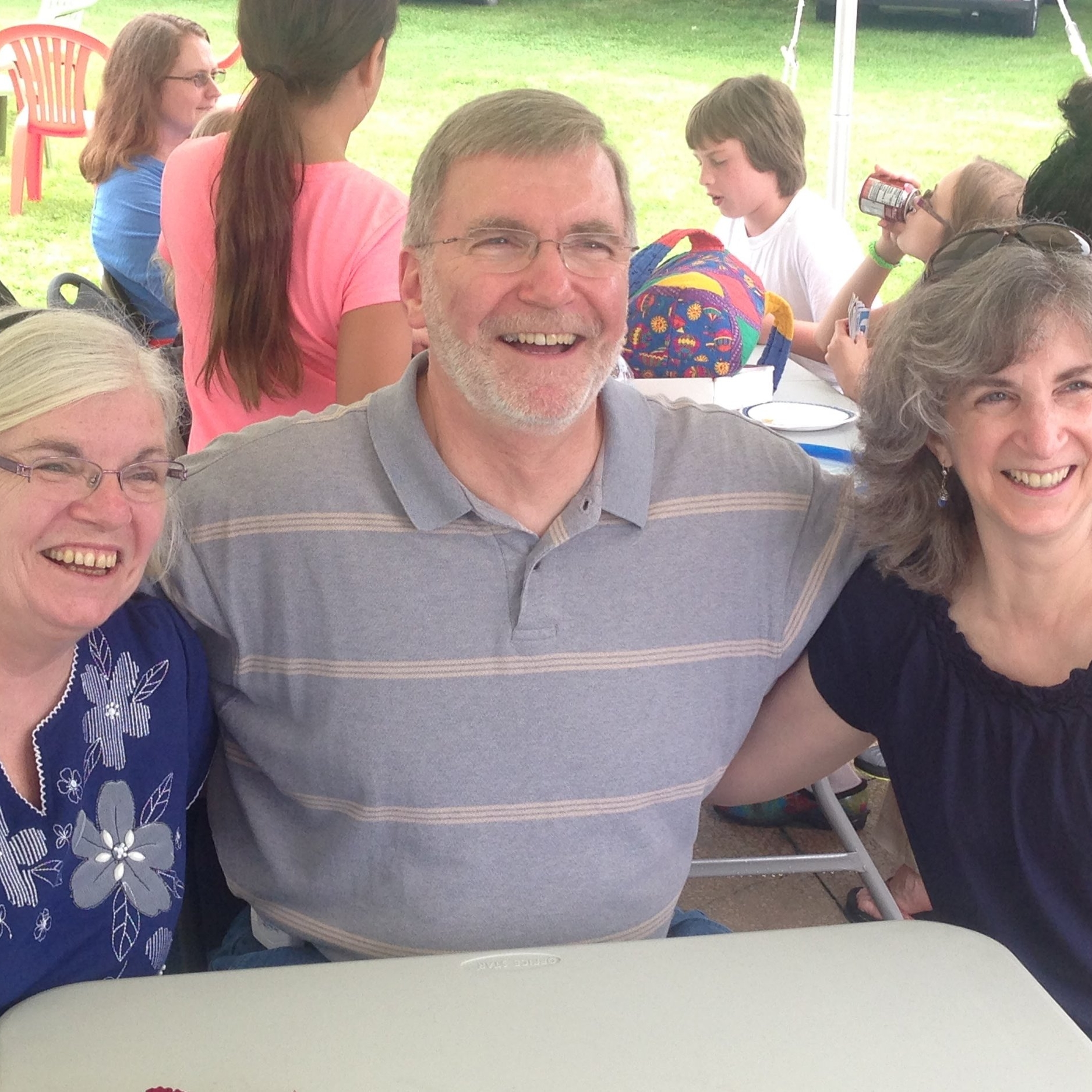 Joe and his sisters, Mary Anne & Helene