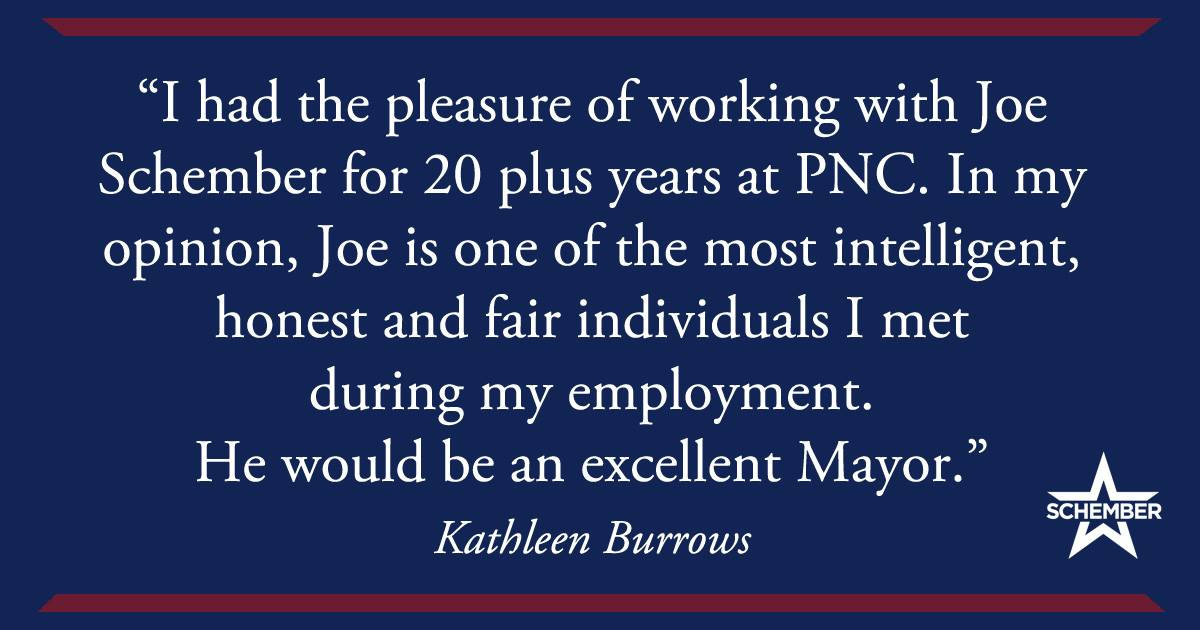 Kathleen Burrows Endorses Joe Schember