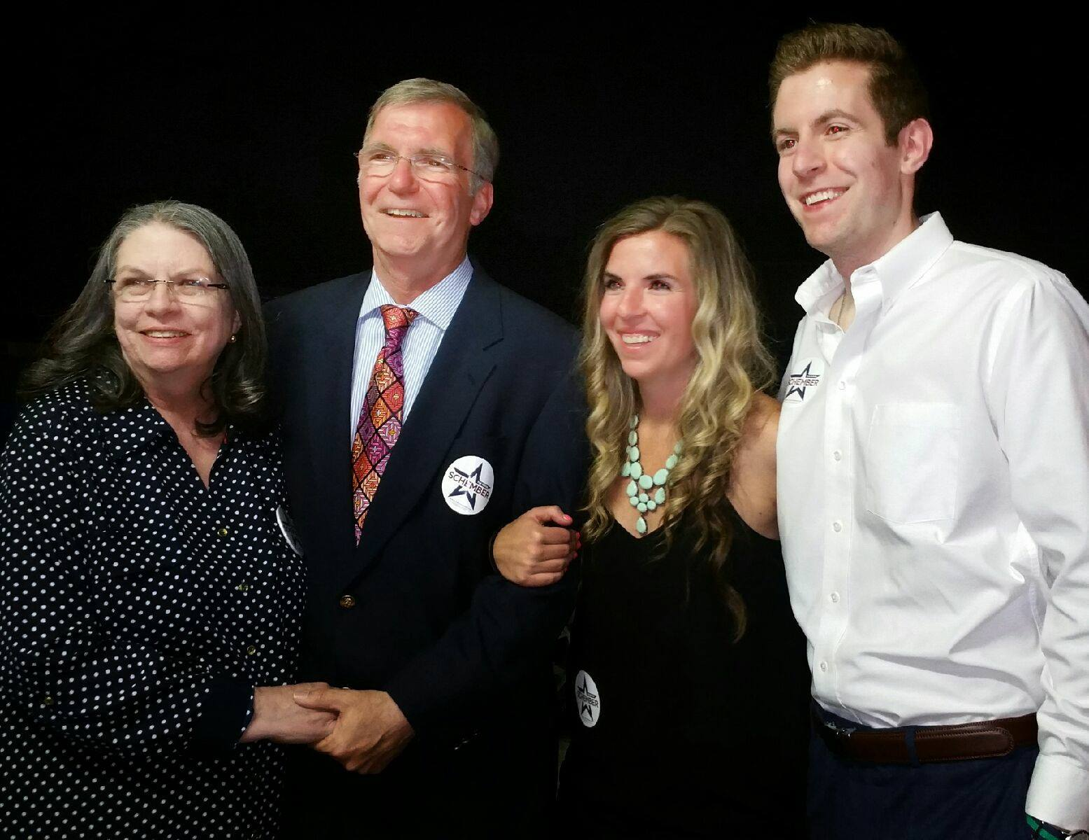Joe, Rhonda, Jaime & Joe after his primary victory.