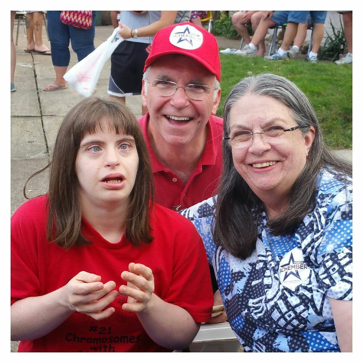 Joe & Rhonda with their daughter, Jodi, enjoying Zabawa Polish Festival.