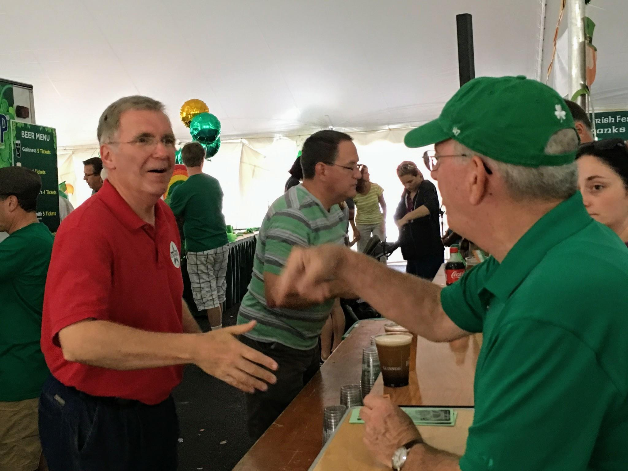 Volunteering at the Erie Irish Festival