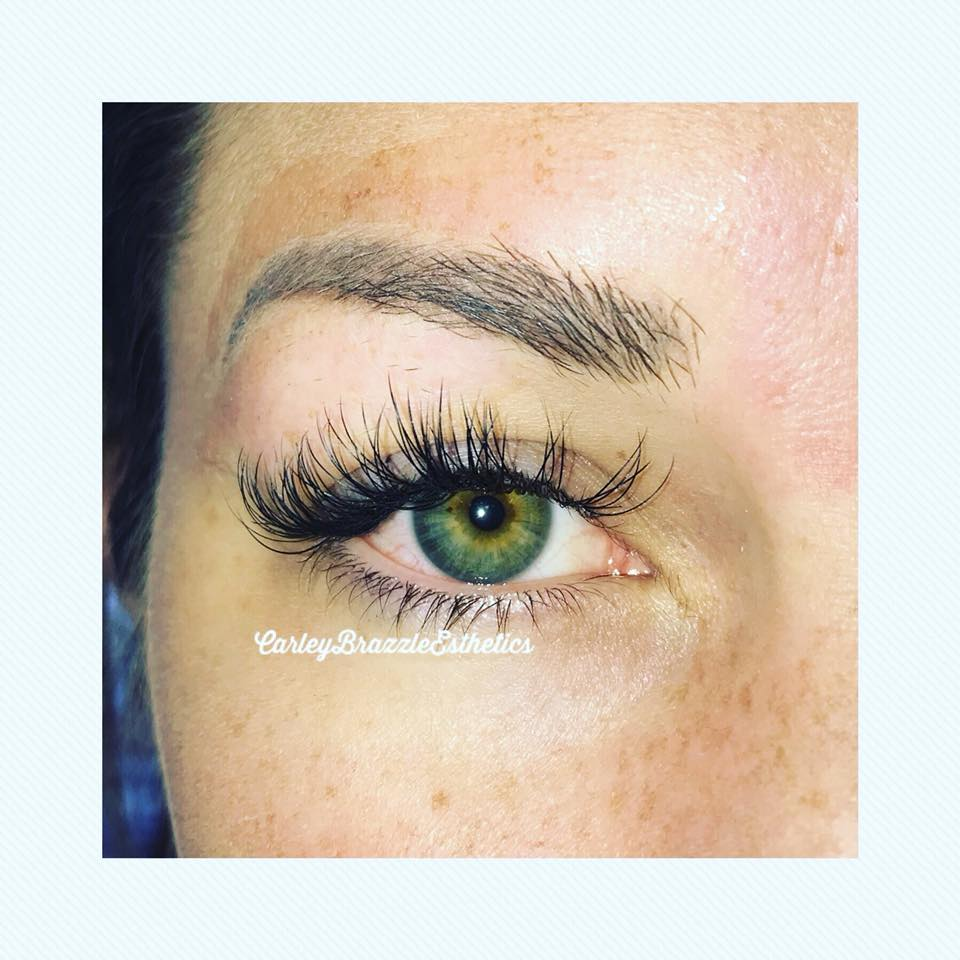 Lash Extensions ($60-$100+) - Used to enhance the length, curliness, fullness, and thickness of natural eyelashes. Your service provider will carefully attach extensions on top of your natural lashes.The extensions may be made from several materials including mink, synthetic, or horse hair. Fills are necessary every 2-3 weeks.Full Set $90-120Fills $50-$70