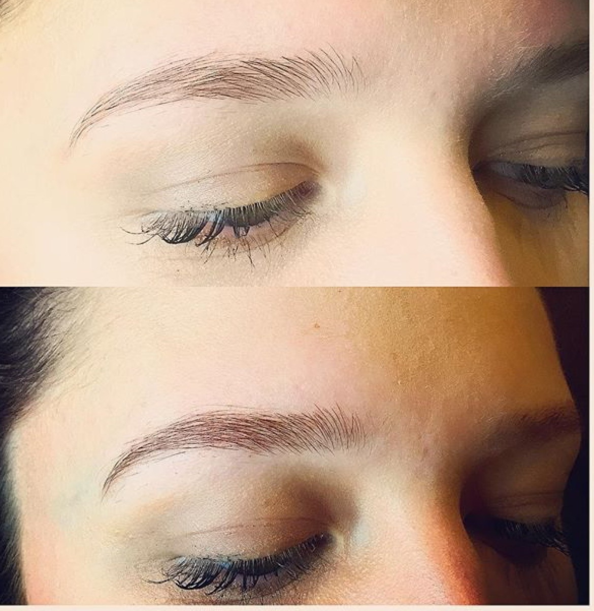 Brow Tint ($20) - A form of semi-permanent hair-dye formulated specifically for use on the eyebrows that lasts 3-4 weeks.