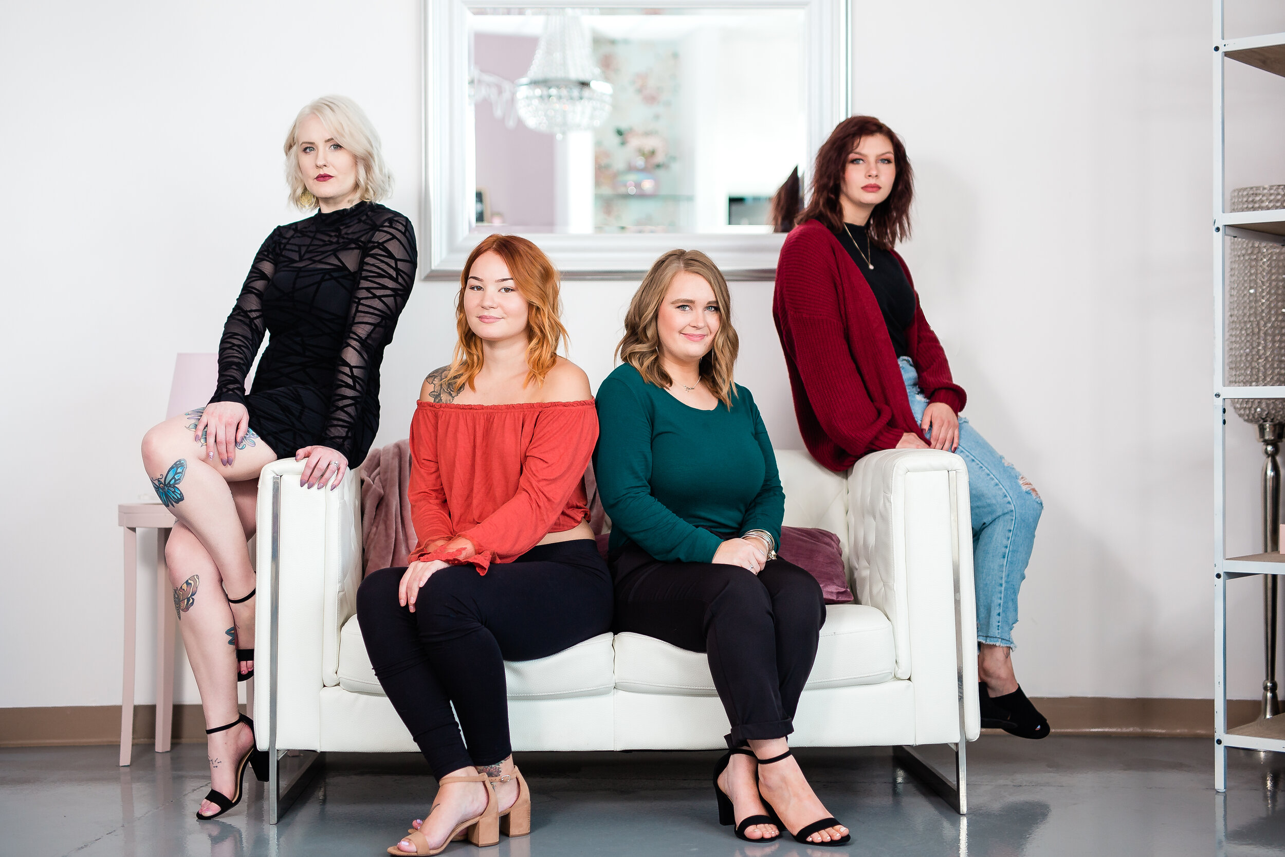 Blush Staff - Blush Stylists are stylists who work directly under Blush Salon. Unlike the Independent Stylists, these stylists policies, and services are under Blush Salon. Their pricing is based on a level system which allows guests to choose the level that best fits their needs and their budget.