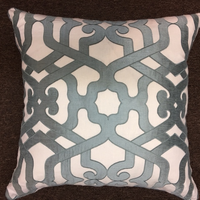 "22""X22"" Ryan Studio pillow with down insert.  $259."