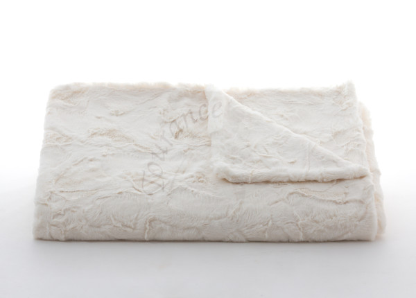 Lux Rabbit Throw in Ivory