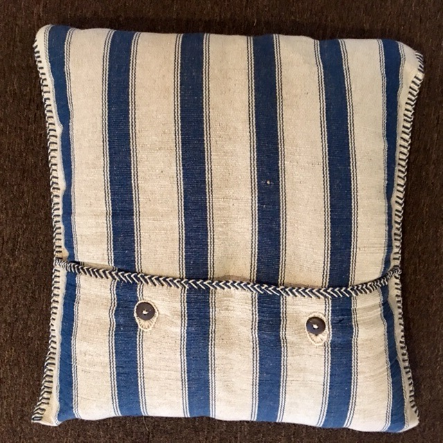 "24""x24"" Cotton pillowwith down insert, hand made in Bijapur.  $285"