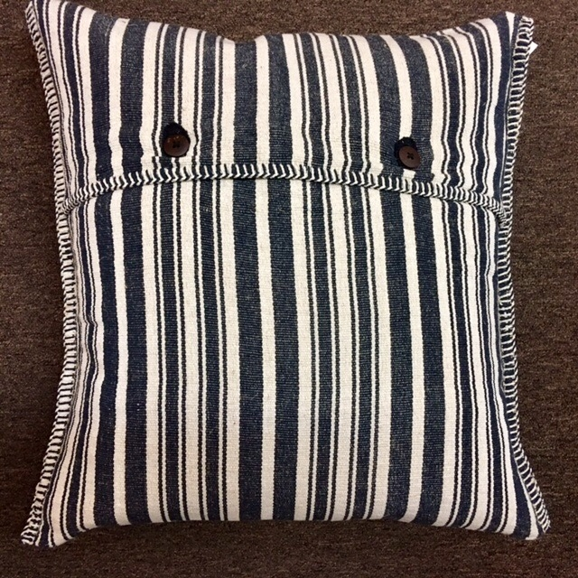"24""x24"" Cotton pillow with down insert, hand made in Bijapur.  $285"