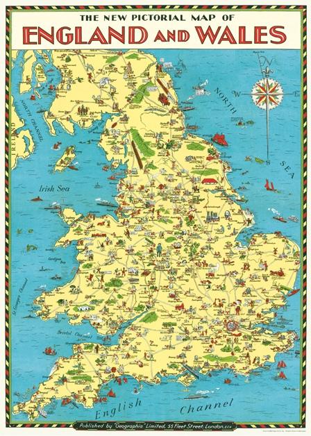England Map Wrap