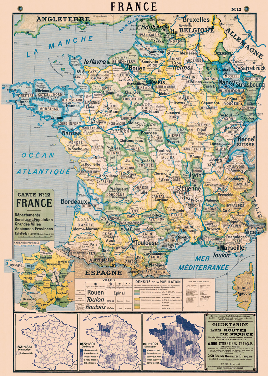 France Map 2 Wrap