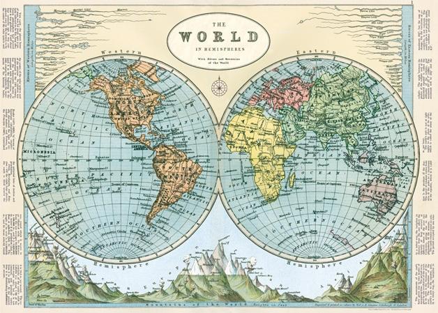 Hemispheres Map 2 Wrap