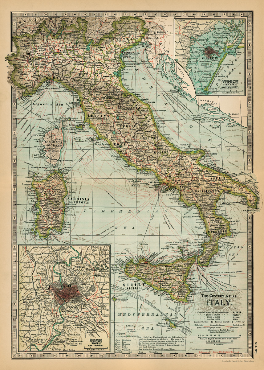 Italy Map Wrap