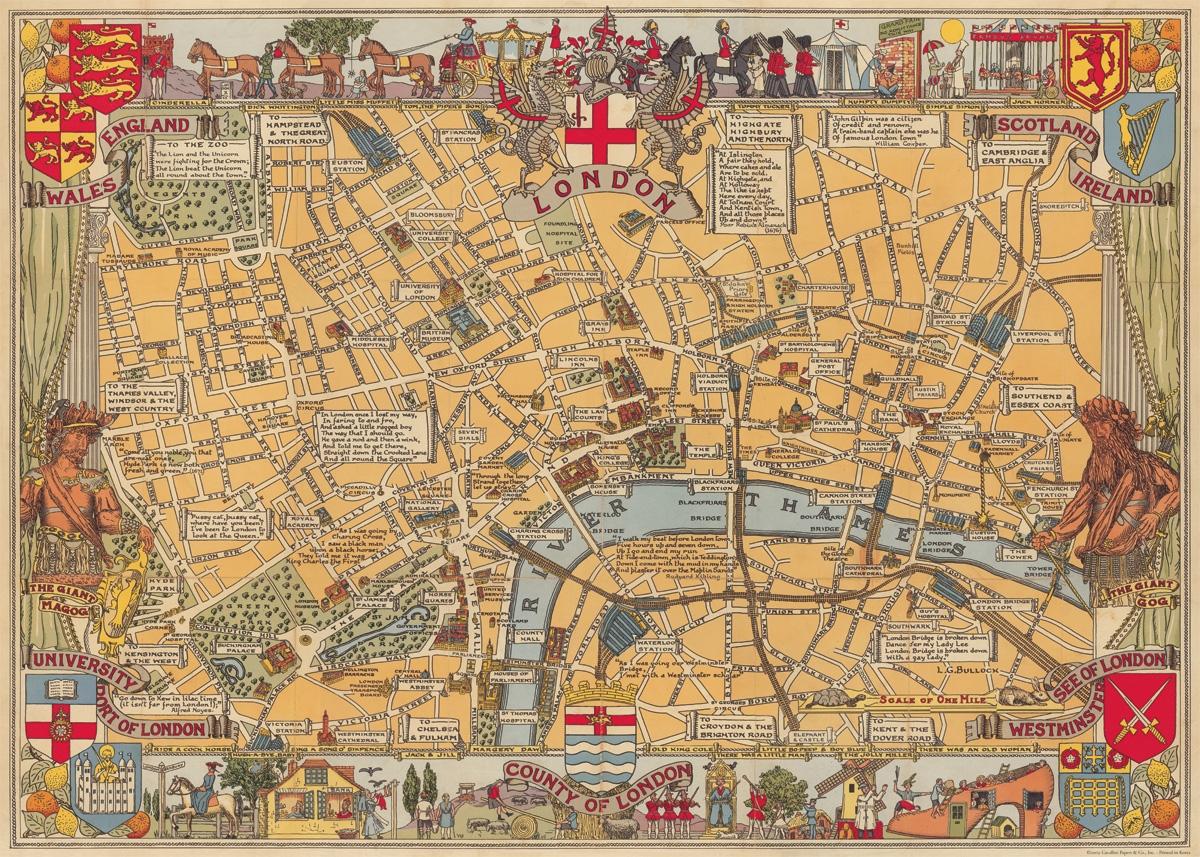 London Map Wrap