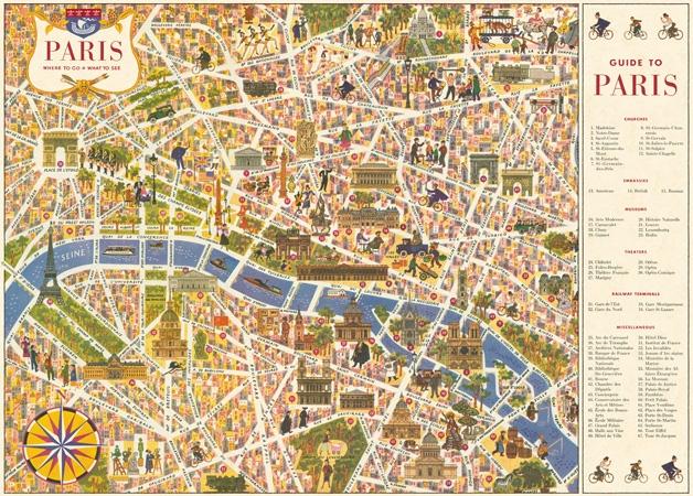 Paris Map 4 Wrap